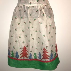 ReTrO Vintage Sheer CHRISTMAS APRON
